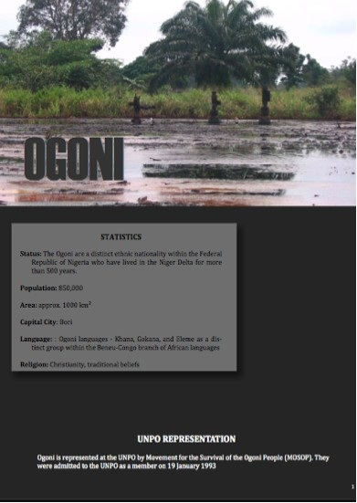 Ogoni Cover Sheet