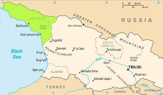 UNPO Abkhazia The Comfortable Conflict Zone - Abkhazia map black sea
