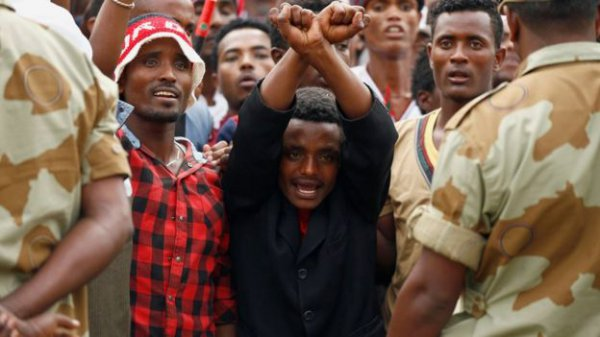 US says American killed by rock in restive part of Ethiopia