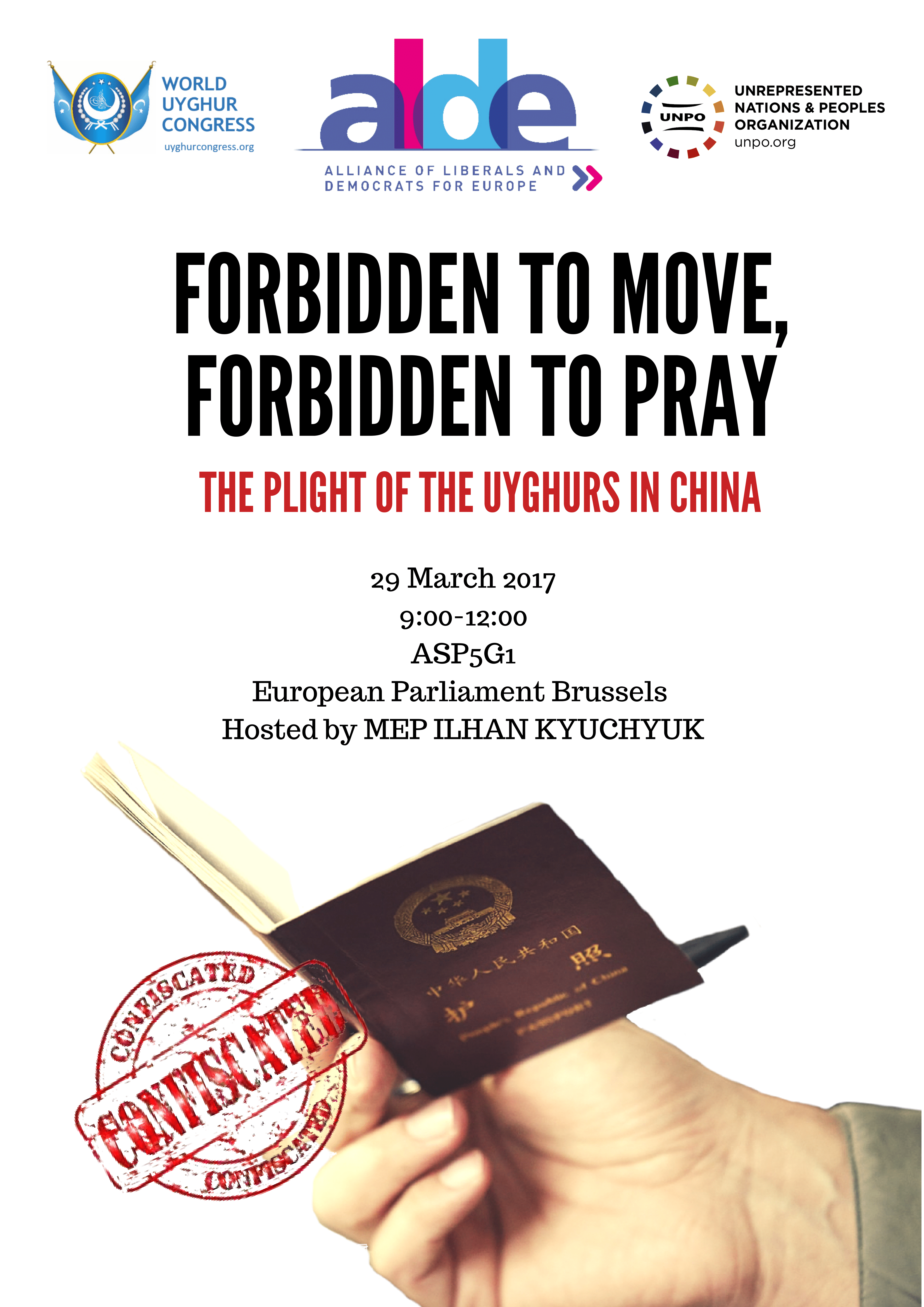 European Parliament Conference: Forbidden to Move, Forbidden to Pray – The Plight of the Uyghurs in China