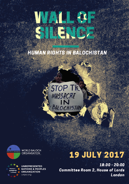 "House of Lords Conference: ""Wall of Silence: Human Rights in Balochistan"""