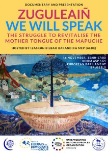Documentary Screening: Zuguleaiñ – We Will Speak – The Struggle to Revitalise the Mother Tongue of the Mapuche